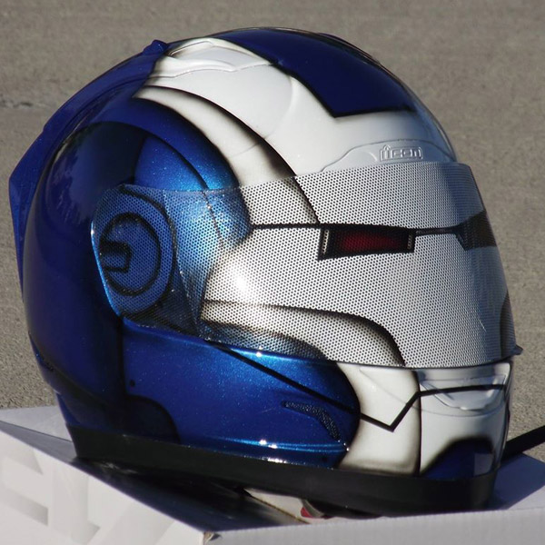Iron Man GSX-R Color Scheme Custom Painted Helmet ...